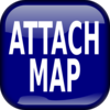Blue Attach Map Square Button Clip Art