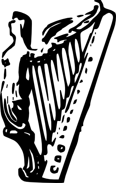 angel harp lineart clip art at clkercom vector clip art