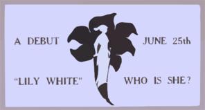 Lily White, Who Is She? A Debut, June 25th. Clip Art