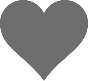 Grey Heart Clip Art at Clker.com - vector clip art online, royalty ...