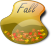 Fall Sign 2 Clip Art