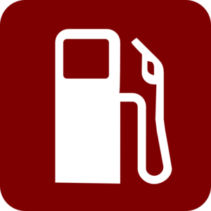 Gas Pump Clip Art - Red/white Clip Art