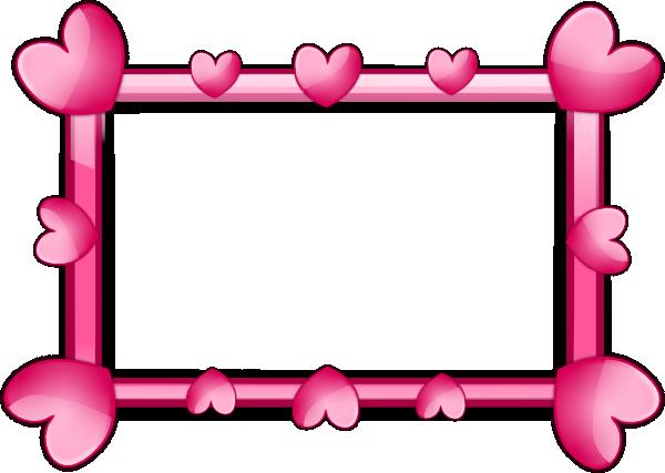 Pink Hearts Clip Art Frame