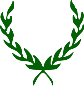 Green Laurel Wreath Clip Art
