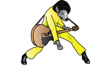 Elvis Hound Dog Clip Art