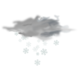 Snowy Weather Icon Clip Art