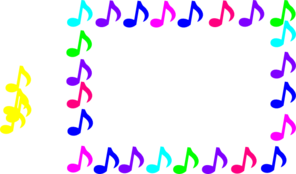 Abbey Music Notes Clip Art
