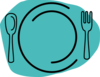 Turquoise Plate Clip Art