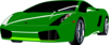 Green Sports Car Clip Art