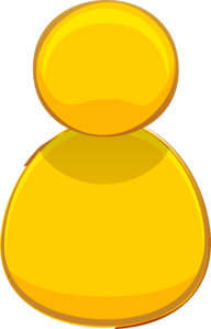 Yellow Computer Person Icon Clip Art