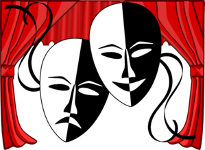 theatre masks clip art at clker com vector clip art online rh clker com theatre face mask clip art theater masks clipart