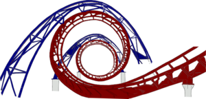 Roller Coaster Red And Blue Clip Art