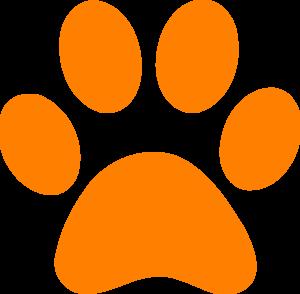 Orange Paw Print Clip Art at Clker.com - vector clip art online ...