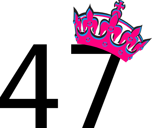 Pink Tilted Tiara And Number 47 Clip Art At Clker Com