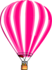 Hot Air Balloon Pink Clip Art