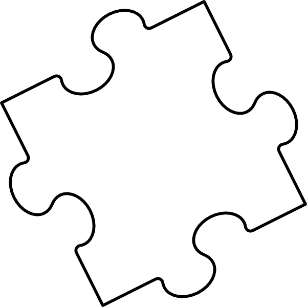Clipart Blank Puzzle Piece on Printable Tessellations