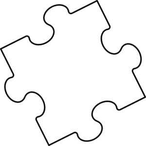 Blank puzzle piece clip art at vector clip art for Large blank puzzle pieces template