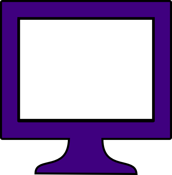 Computer Monitor Purple Frame Clip Art At Clker