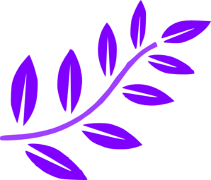 Purple Leaves Branch Clip Art