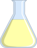 Chemistry Flash Light Yellow Clip Art