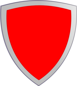Plain Red Security Shield Clip Art