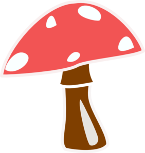 Red Top Mushroom No Letter Clip Art