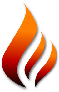 Flame With Shadow Clip Art