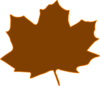 Brown Leaf, Orange Border Clip Art