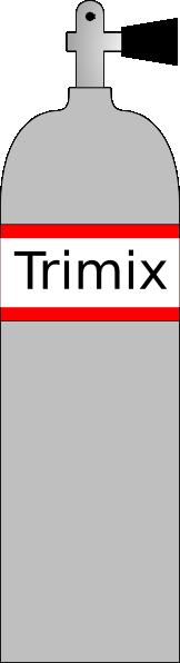 Tri Mix Tank : Trimix cylinder clip art at clker vector