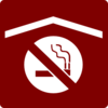 Hotel Icon No Smoking In Rooms Clip Art - Red/white Clip Art