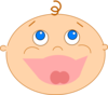 Laughing Baby Clip Art