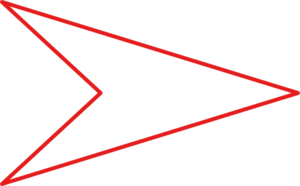 White Arrow Red Outline Clip Art