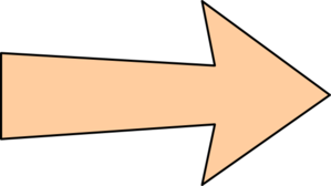 Orange Arrow With Thin Outline Clip Art