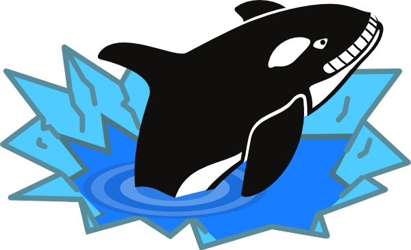 killer whale clip art at clker com vector clip art online royalty rh clker com killer whale cartoon clipart killer whale clipart black and white
