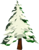 Tree With Snow  Clip Art