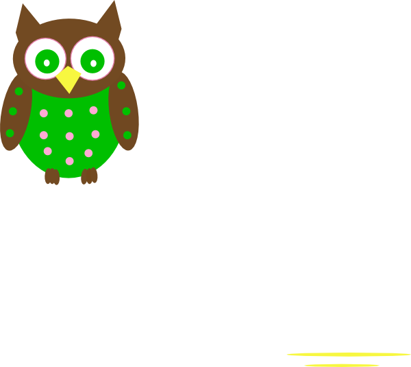 Pink And Green Owl Reverse Clip Art at Clker.com - vector ...