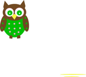 Pink And Green Owl Reverse Clip Art
