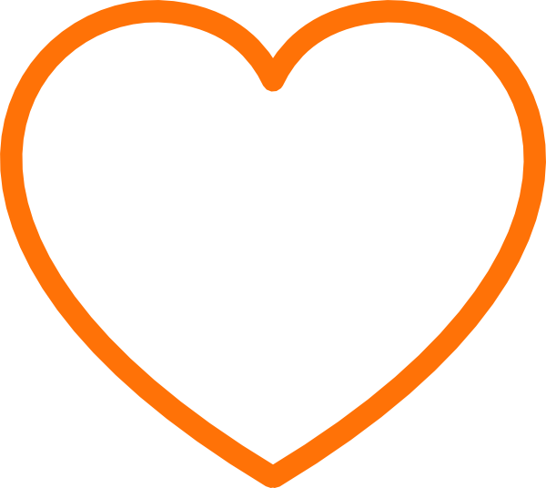 Orange Heart Clip Art At Clker Com Vector Clip Art