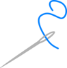 Needle And Blue Thread Clip Art