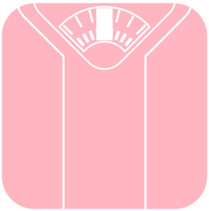 Pink Weight Scale Clip Art