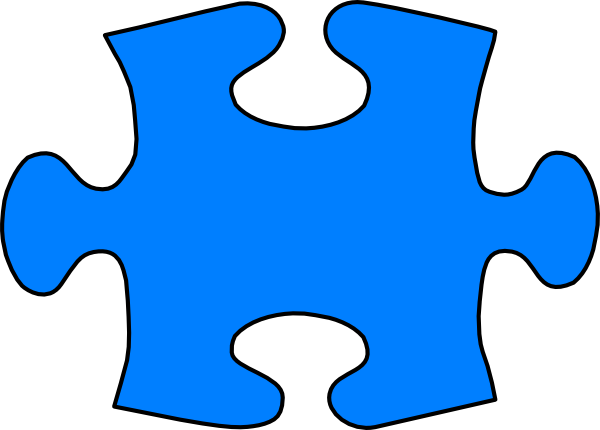 Blue Jigsaw Puzzle Piece Large Clip Art at Clker.com - vector clip ...