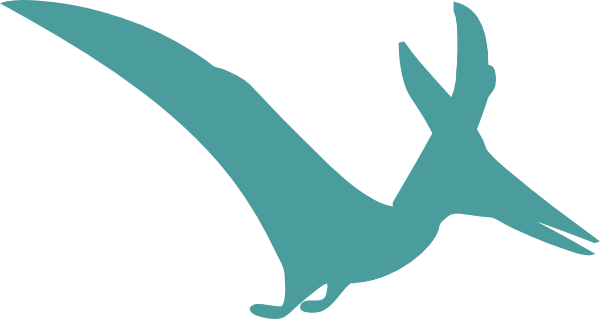 Pterodactyl Silhouette Clip Art at Clker.com - vector clip art online ...