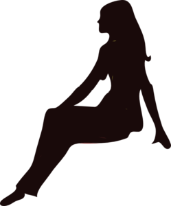 Sitting Women Black Clip Art