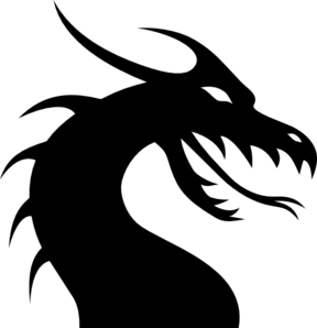 Dragon easy. Head silhouette clip art