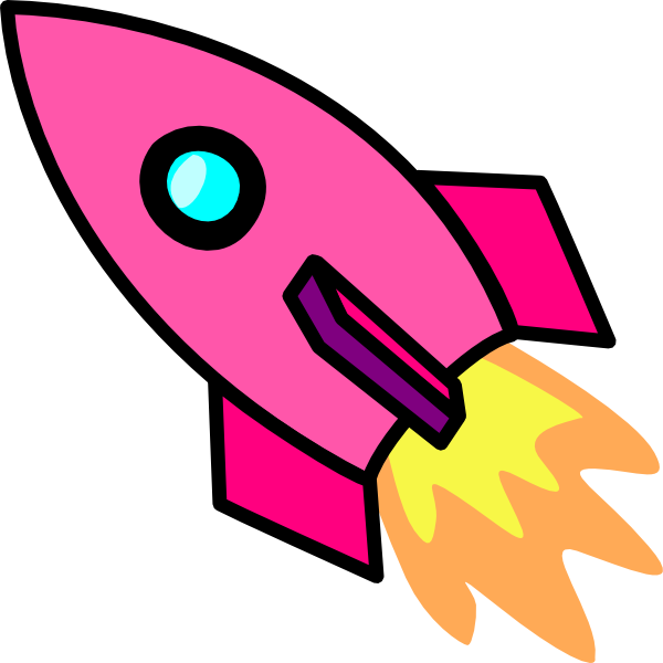 Pink Rocket Clip Art at Clker.com - vector clip art online, royalty ...
