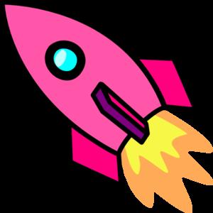 Pink rocket clip art at clker vector clip art online royalty pink rocket clip art sciox Choice Image
