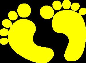 Baby Feet Yellow Clip Art at Clker.com - vector clip art ...