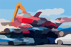 Cloned Cars Scrap Yard Clip Art