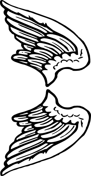 free angel wings with halo clip art - photo #20