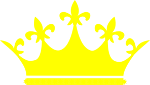 Queen Crown Logo Yellow Clip Art